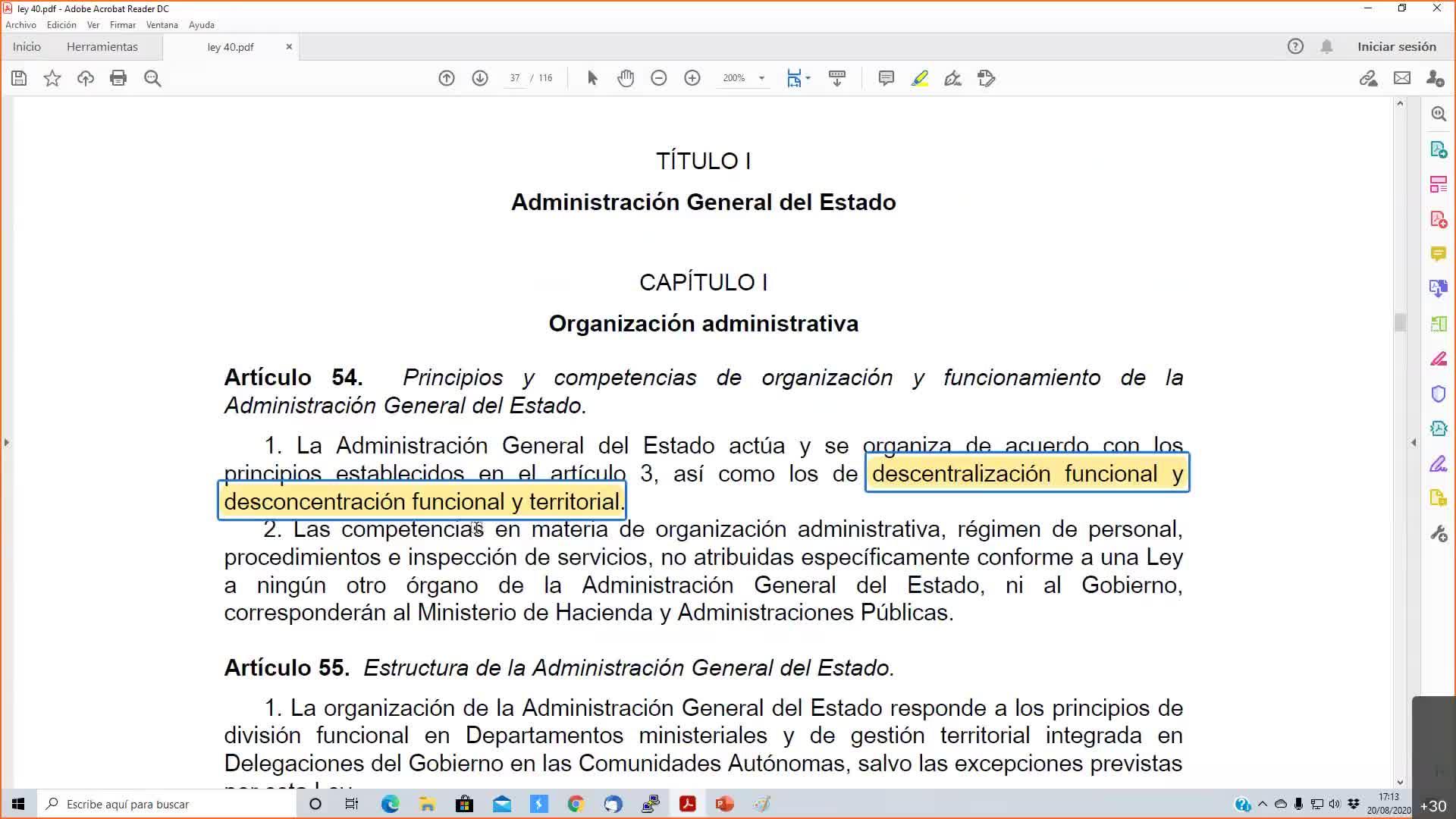 ley 40