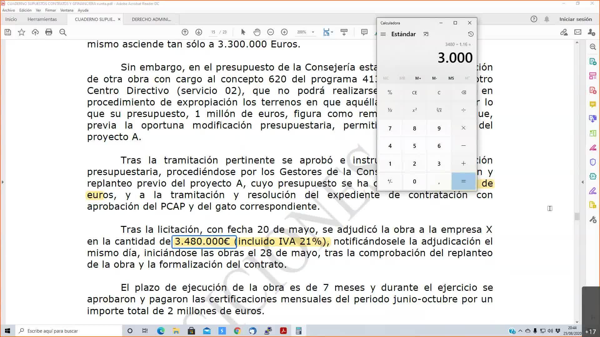 Supuestos Xunta 25-08-2020