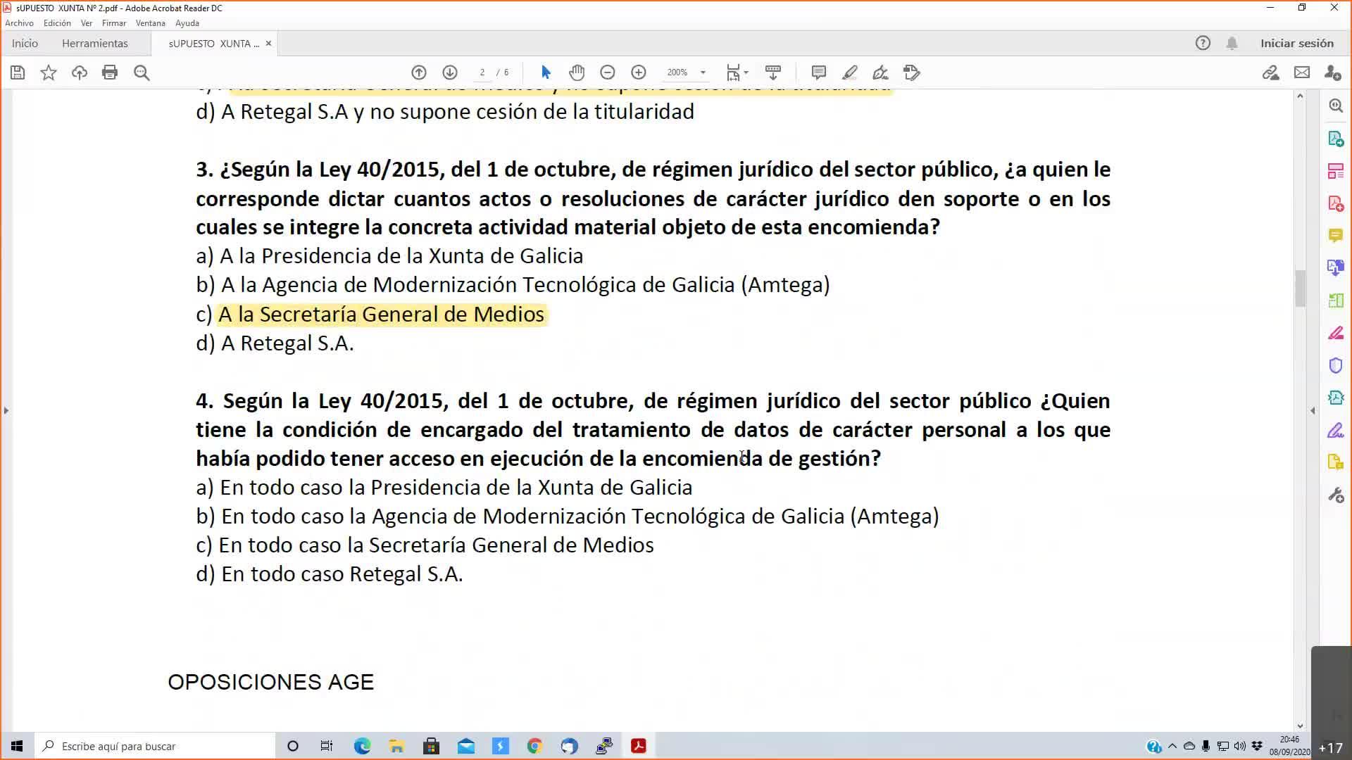 Supuestos prácticos xunta 08-09-2020