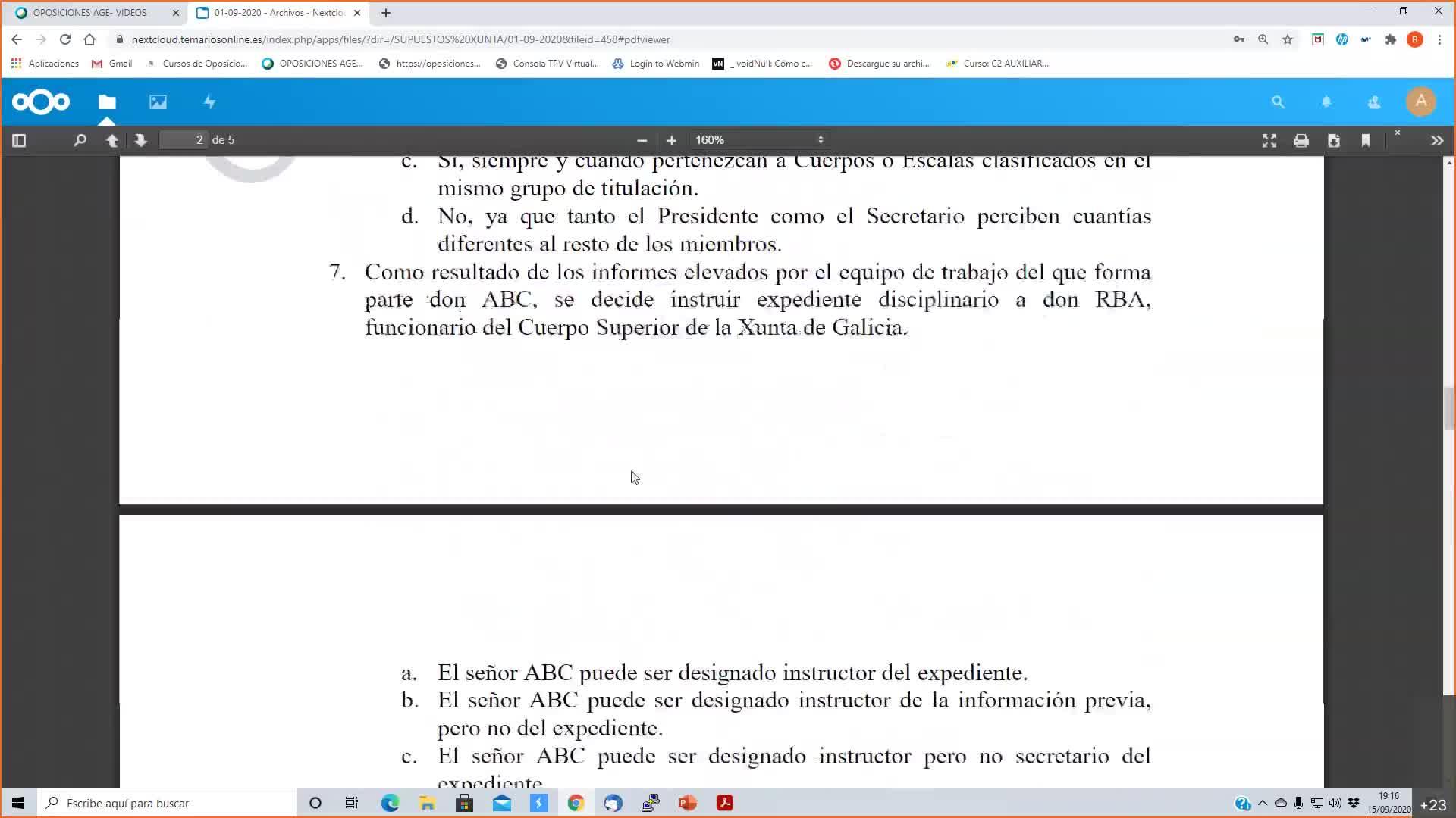 Supuestos Xunta 15-09-2020