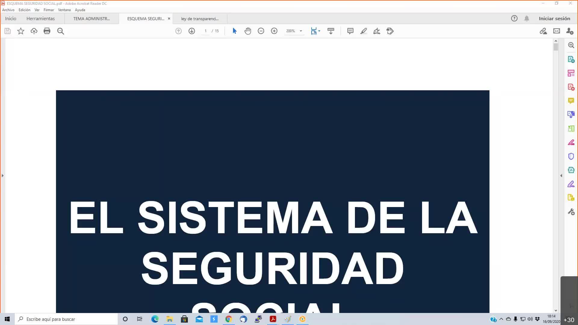 Seguridad Social 16-09-2020