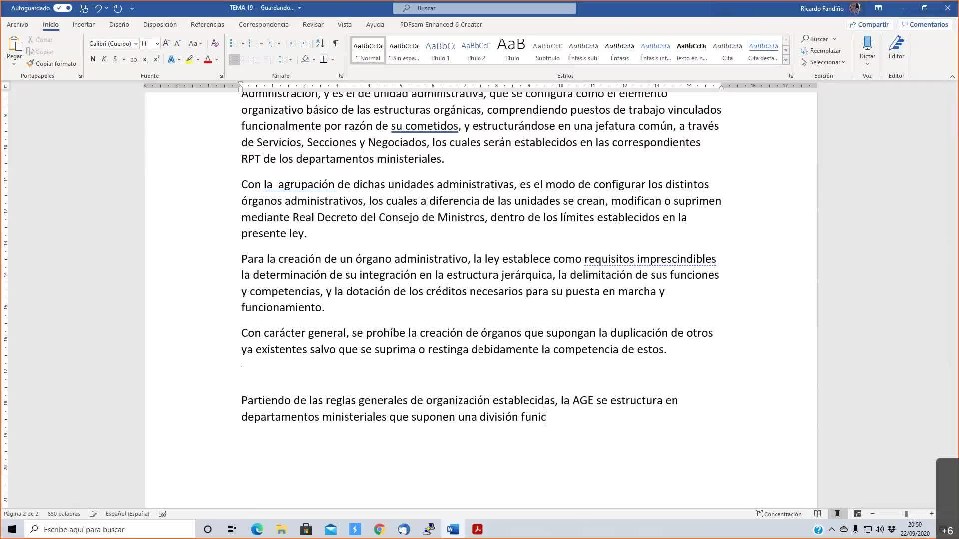 Temas de desarrollo Xunta 22-09-2020