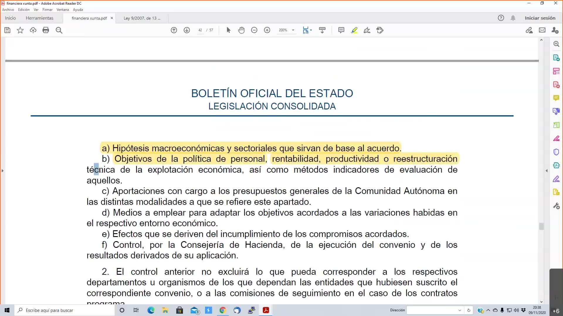Presupuestaria Galicia 09-11-2020