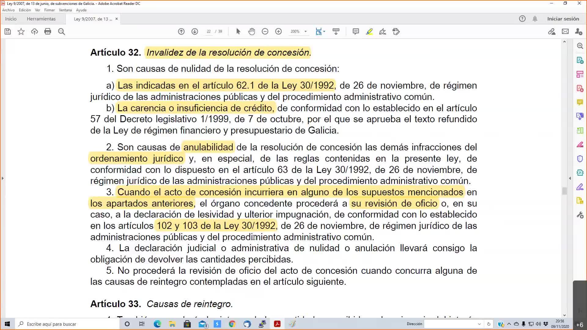 Subvenciones Gestión 09-11-2020