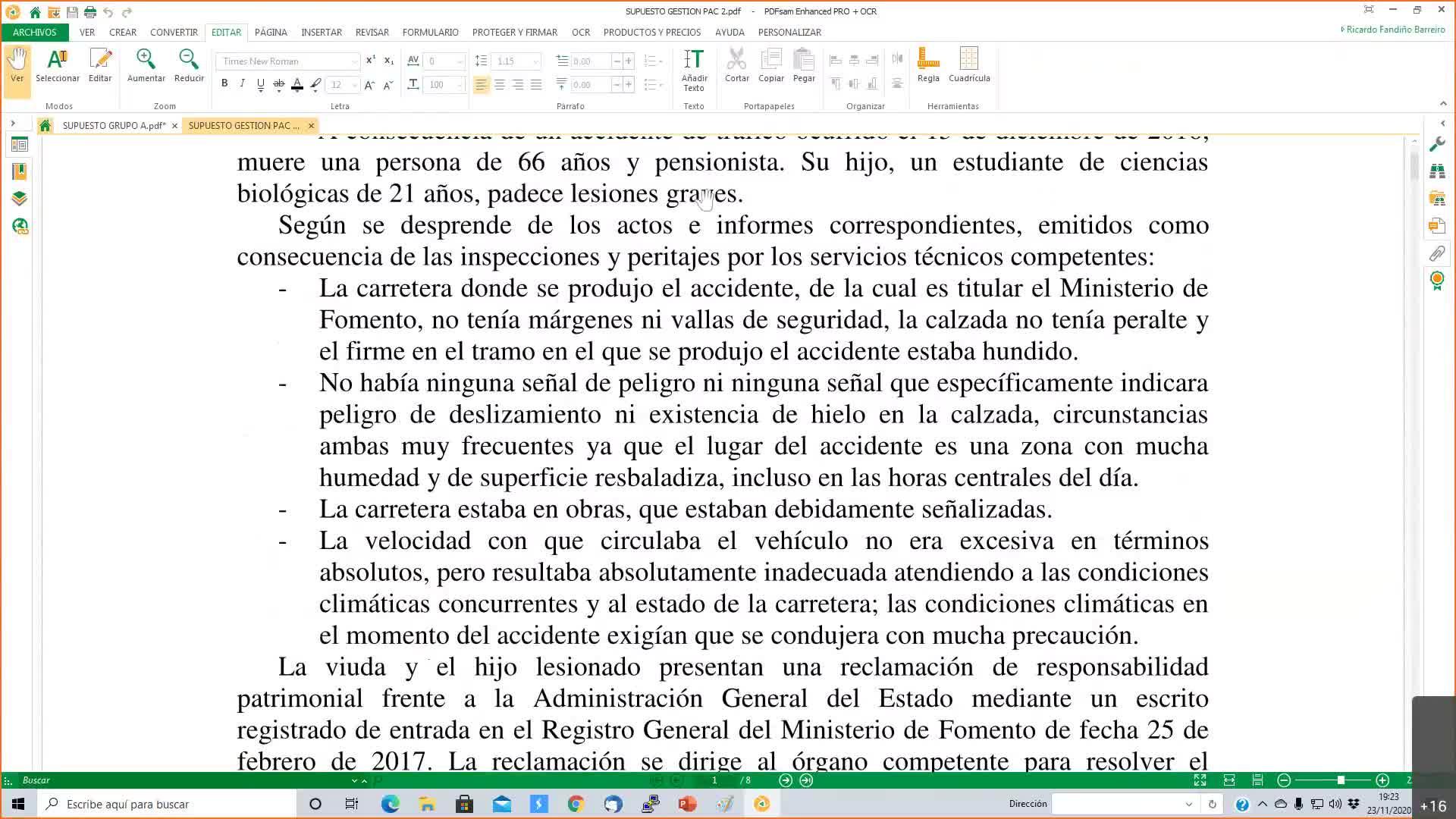 Supuestos prácticos galicia  23-11-2022