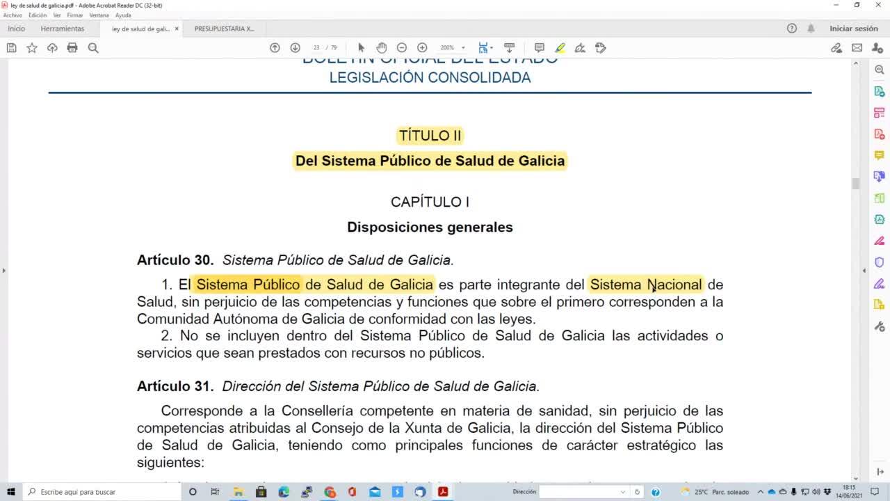 Presupuestaria de Galicia 14-06-2021