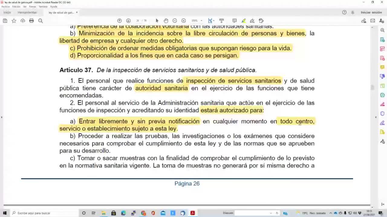 Ley salud de Galicia 21-06-2021