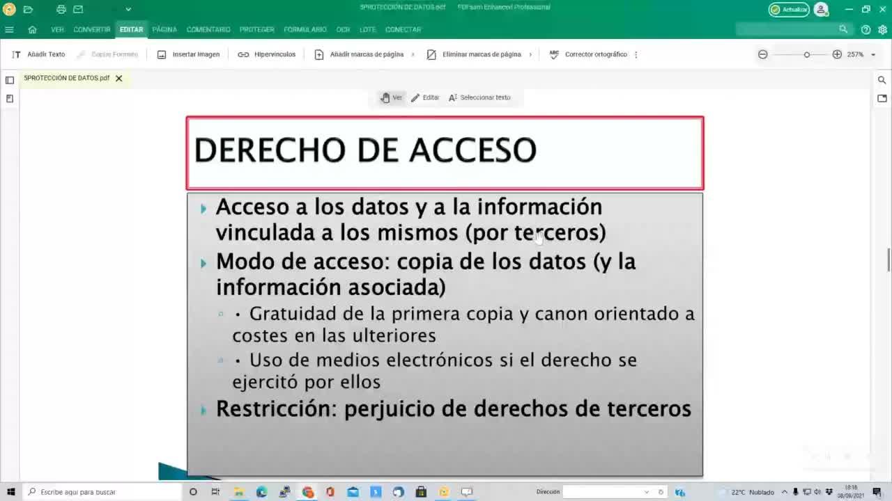 Protección de datos 08-09-2021